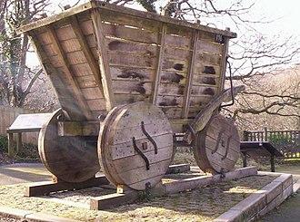 Gondola (rail) - Replica of a chaldron wagon