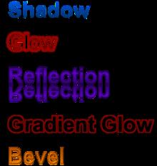 Los efectos de formato como se ve en Office 2010 y 2007