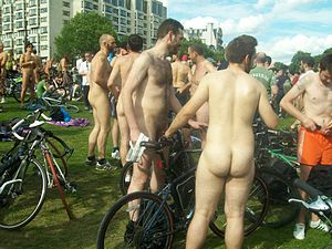 World Naked Bike Ride - London 2009.jpg