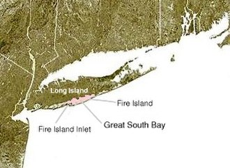 Great South Bay - Map showing the location of the Great South Bay