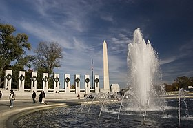 Image result for pictures of the world war ii memorial in washington dc