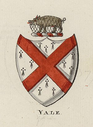 Yale College - The coat of arms of the College is inspired by the coat of arms of Elihu Yale