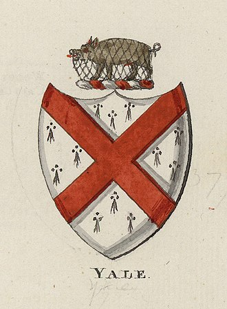 Yale University - Coat of arms of the family of Elihu Yale, after whom the University was named in 1718