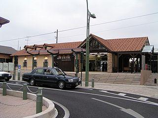 Yamanashishi Station Railway station in Yamanashi, Japan