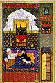 Yar Muhammad al-Haravi - Shiruyah Stabbing his Father, Khusraw - Walters W609111B crop.jpg