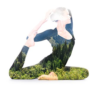 Yoga Yajnavalkya - Image: Yoga, double exposure by Victor Tondee