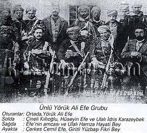 Battle of Aydın - The group of efe led by Yörük Ali during the battle