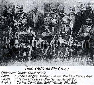 Yörük Ali Efe - Group of Yoruk Ali Efe during Battle of Aydın