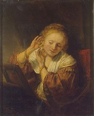 Young woman with earrings