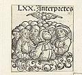 Zeventig vertalers en de Heilige Geest LXX. Interpretes (titel op object) Liber Chronicarum (serietitel), RP-P-2016-49-19-5.jpg