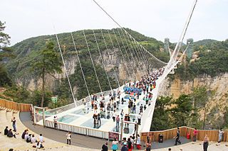 Zhangjiajie Glass Bridge Glass-bottom bridge in China