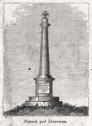 Battle of Żurawno - Zurawno monument