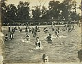 """Swimmers to be!"" Children and instructors at work at swimming classes at Fairgrounds Park pool.jpg"