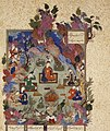 """The Feast of Sada"", Folio 22v from the Shahnama (Book of Kings) of Shah Tahmasp MET is1970.301.2.R (cropped).jpg"