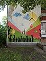 'Dog-friendly place' graffiti, Állomás utca, 2019 Kiskunhalas.jpg