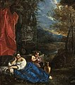 'Flora and the Infant Bacchus in a Wooded Landscape' by Pier Francesco Mola.jpg