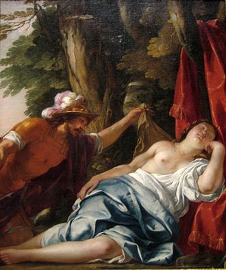Jacques Blanchard - Mars and the Vestal Virgin, oil on canvas painting by Jacques Blanchard, ca. 1630, Art Gallery of New South Wales