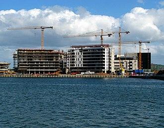 Belfast quarters - Construction in Titanic Quarter