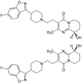 (±)-Paliperidone Enantiomers Structural Formulae.png