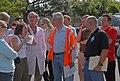 (Hurricane Katrina) New Orleans, LA, 4-21-06 -- Dorothy Davison, Nurse Practitioner, briefs Don Powell Federal Coordinator for Gulf Coast Rebuilding and FEMA FCO Scott Wells on oper - DPLA - ffd1cb5c600323246ea6be0303a7915f.jpg