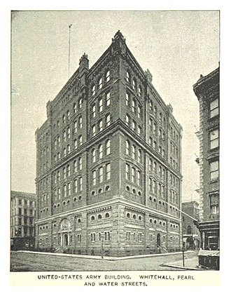 Whitehall Street - Image: (King 1893NYC) pg 547 US ARMY BUILDING, WHITEHALL, PEARL AND WATER STREETS
