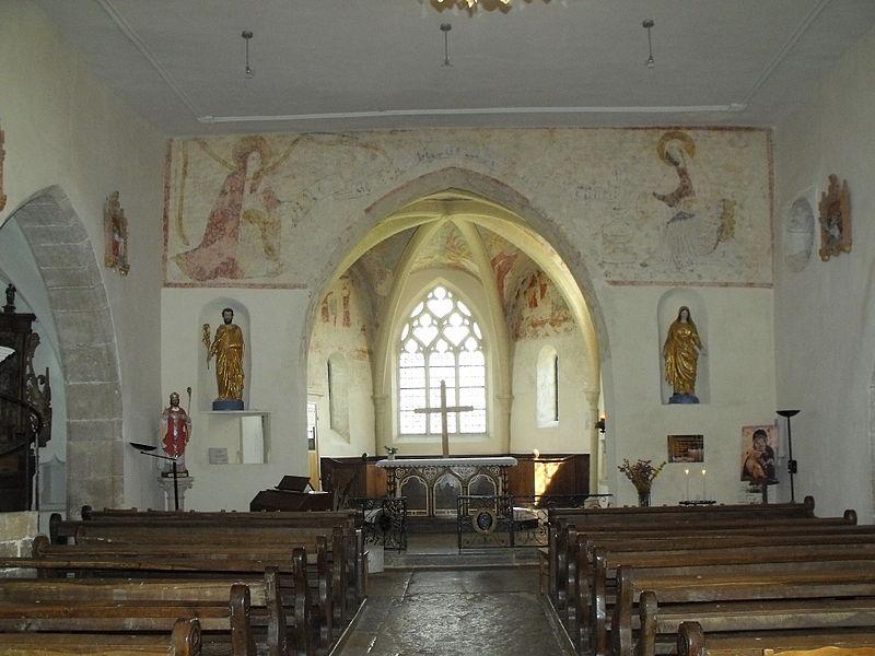 Intérieur de l'église Saint-Léger de Chaux-lès-Châtillon