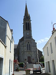 The church of Saint Marcoul, in Carentoir