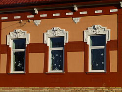 Windows on a house of Örkény