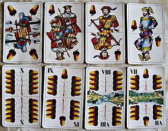 Acorns (suit) - Example of Acorn cards