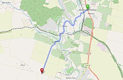 Мапа автошляху С201507 «Велика Березовиця — Буцнів — (Хатки — Мишковичі)»