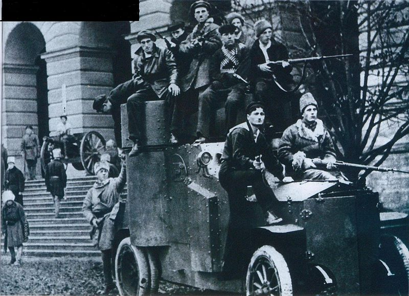 Armored car at Smolny. Autumn 1917.