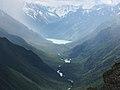 Вид на Кучерлинское озера с хребта, разделяющего долины Кучерлы и Аккема.JPG