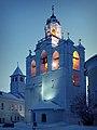 Звонница в Спасо-Пеображенском монастыре Ярославля, январским вечером.jpg