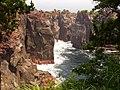 城ヶ崎海岸の吊橋の先から見た絶壁 - panoramio.jpg