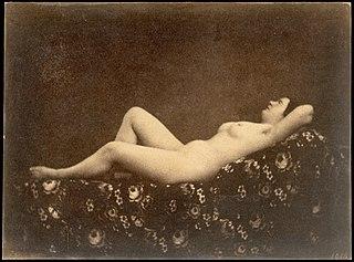 [Female Nude, Reclining, in Profile]