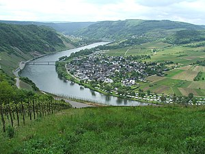 Treveri - Valley of the Moselle in Wolf, Traben-Trarbach.