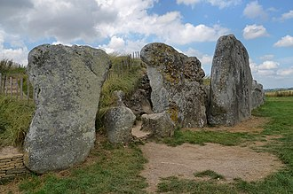 Cotswold-Severn Group - The front area of West Kennet Long Barrow in Wiltshire