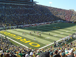 Autzen Stadium, home of theUniversity of Orego...