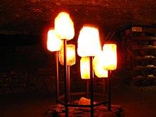 1090 - Hallstatt - Salzbergwerk - Salt Lamps.JPG