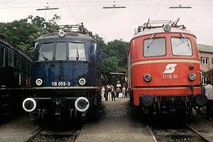 DRG Class E 18 - DB 118 and ÖBB 1118 in Würzburg, 1984
