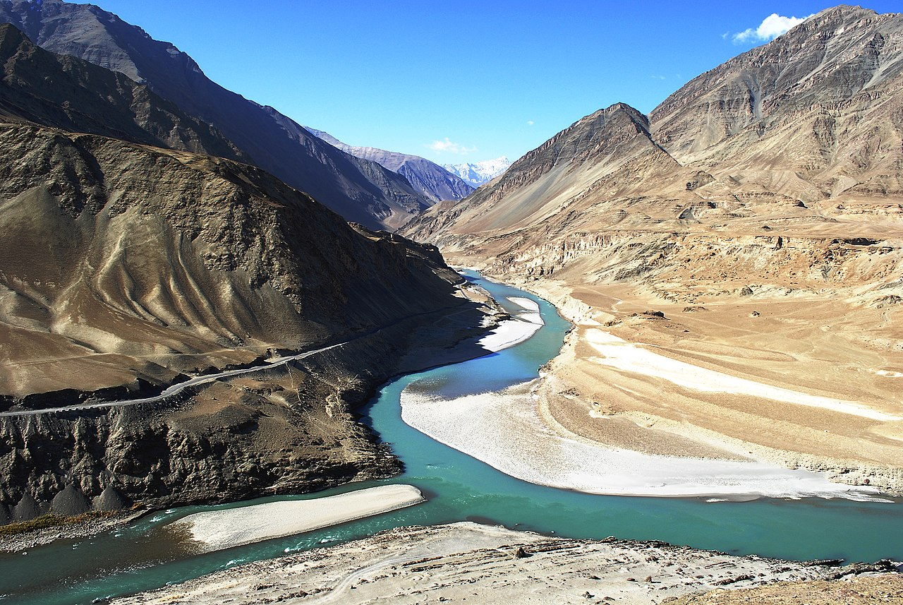 Confluence of Indus river, India