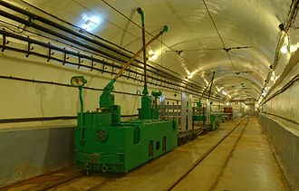Fortified Sector of Haguenau - Interior of Schoenenbourg with electric train