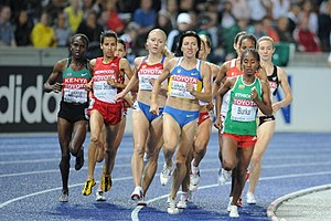 1500 metres at the World Championships in Athletics - Women racing in the 2009 semi-finals