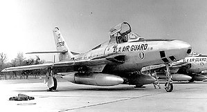 160th Fighter Squadron - 160th TRS Republic RF-84F-40-RE Thunderflash 53-7538, about 1960
