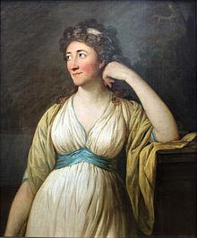 Porträt der Elisa von der Recke von Anton Graff (1797; Alte Nationalgalerie, Staatliche Museen zu Berlin) (Quelle: Wikimedia)