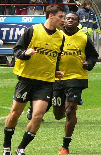 Obafemi Martins - Martins (right) with Inter Milan in 2005