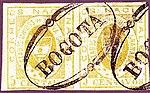 1861 5c pair EU de Nueva Granada Bogota Sc14 Mi10b.jpg