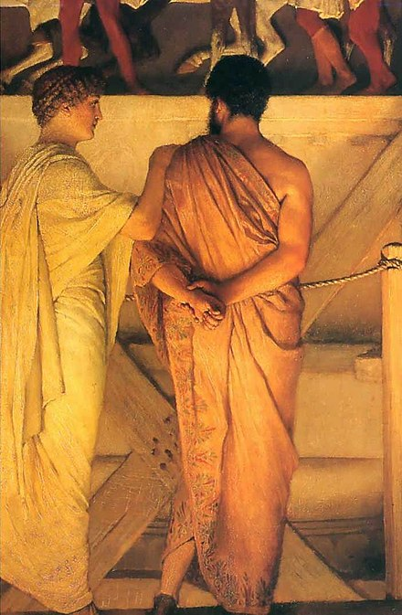 Detail from Phidias Showing the Frieze of the Parthenon to His Friends by Lawrence Alma-Tadema (1868)