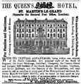 1870 Queens Hotel advertisement London.png