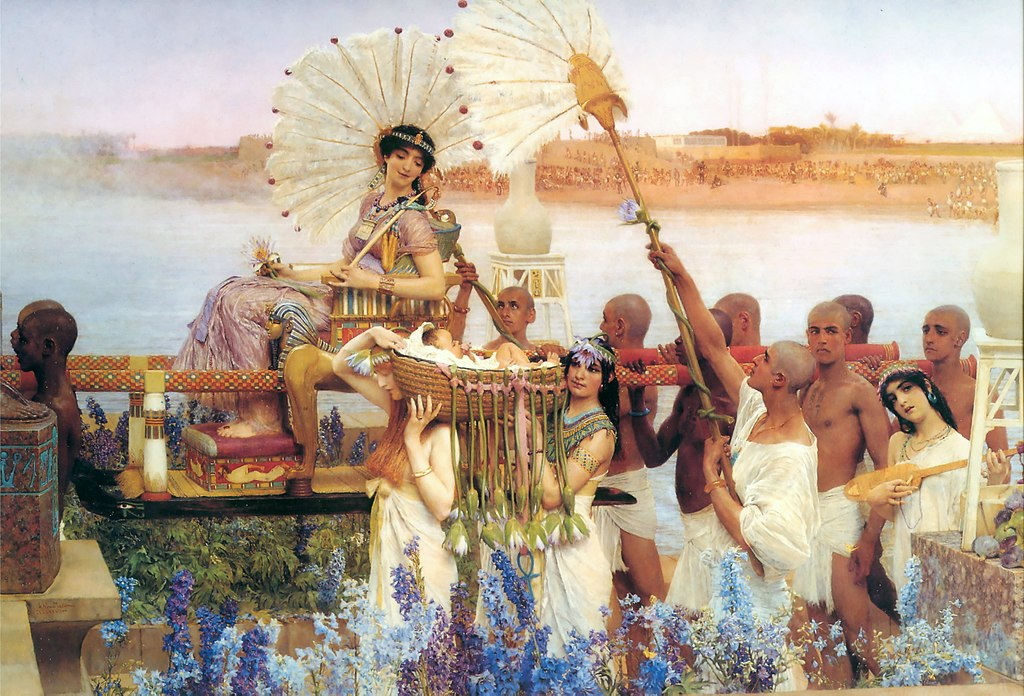https://upload.wikimedia.org/wikipedia/commons/thumb/1/14/1904_Lawrence_Alma-Tadema_-_The_Finding_of_Moses.jpg/1024px-1904_Lawrence_Alma-Tadema_-_The_Finding_of_Moses.jpg